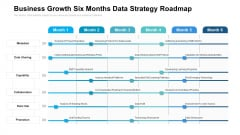 Business Growth Six Months Data Strategy Roadmap Icons