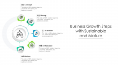 Business Growth Steps With Sustainable And Mature Ppt Show Background Images PDF