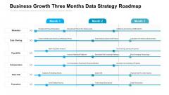 Business Growth Three Months Data Strategy Roadmap Ideas