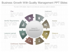 Business Growth With Quality Management Ppt Slides