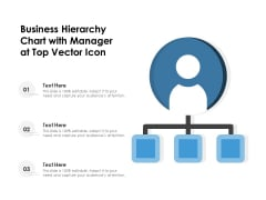 Business Hierarchy Chart With Manager At Top Vector Icon Ppt PowerPoint Presentation Icon Infographics PDF