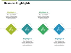 Business Highlights Ppt PowerPoint Presentation File Design Inspiration