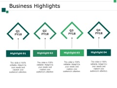 Business Highlights Ppt PowerPoint Presentation Professional Designs