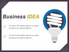 Business Idea Ppt PowerPoint Presentation Portfolio Files