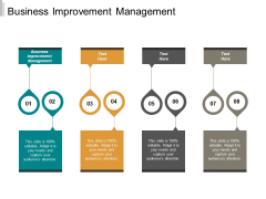 Business Improvement Management Ppt PowerPoint Presentation Infographic Template Elements Cpb
