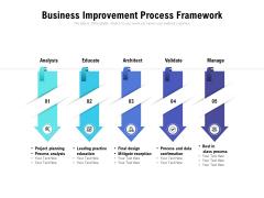 Business Improvement Process Framework Ppt PowerPoint Presentation Slide