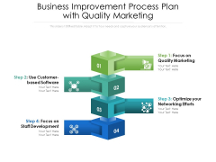 Business Improvement Process Plan With Quality Marketing Ppt PowerPoint Presentation Ideas Vector PDF