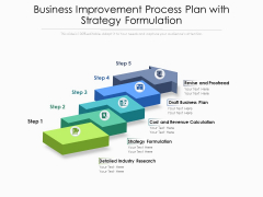 Business Improvement Process Plan With Strategy Formulation Ppt PowerPoint Presentation Infographics Graphics Download PDF