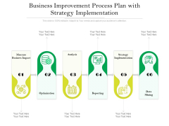Business Improvement Process Plan With Strategy Implementation Ppt PowerPoint Presentation Gallery Layout Ideas PDF
