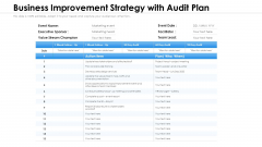 Business Improvement Strategy With Audit Plan Ppt PowerPoint Presentation Summary Diagrams PDF