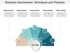 Business Improvement Techniques And Practices Ppt PowerPoint Presentation File Graphics Tutorials