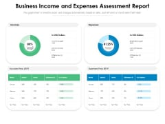 Business Income And Expenses Assessment Report Ppt PowerPoint Presentation Gallery Samples PDF