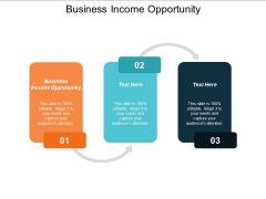 Business Income Opportunity Ppt Powerpoint Presentation File Samples Cpb