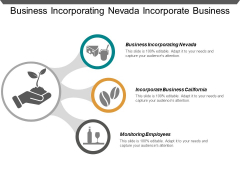 Business Incorporating Nevada Incorporate Business California Monitoring Employees Ppt PowerPoint Presentation Gallery Icon