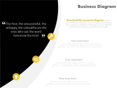 Business Infographic Diagram With Quote Layout Powerpoint Slides