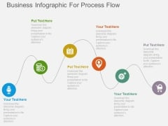Business Infographic For Process Flow Powerpoint Template