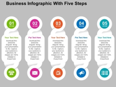 Business Infographic With Five Steps Powerpoint Templates