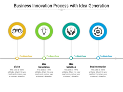 Business Innovation Process With Idea Generation Ppt PowerPoint Presentation Gallery Smartart PDF