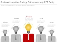 Business Innovation Strategy Entrepreneurship Ppt Design