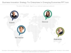 Business Innovation Strategy For Enterprises In Emerging Economies Ppt Icon