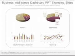 Business Intelligence Dashboard Ppt Examples Slides