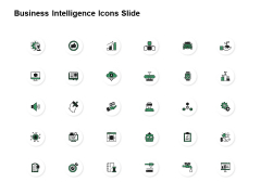 Business Intelligence Icons Slide Growth Financial Ppt PowerPoint Presentation Files
