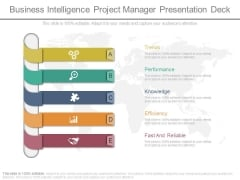 Business Intelligence Project Manager Presentation Deck