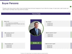 Business Intelligence Report Buyer Persona Ppt Infographic Template Show PDF