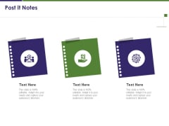 Business Intelligence Report Post It Notes Ppt Pictures Shapes PDF