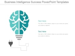 Business Intelligence Success Ppt PowerPoint Presentation Show
