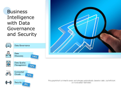 Business Intelligence With Data Governance And Security Ppt PowerPoint Presentation Infographics Example PDF