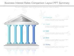 Business Interest Rates Comparison Layout Ppt Summary