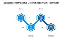 Business International Diversification With Teamwork Ppt PowerPoint Presentation Infographics Introduction PDF