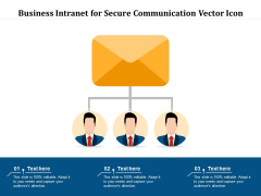 Business Intranet For Secure Communication Vector Icon Ppt PowerPoint Presentation Infographic Template Design Ideas PDF