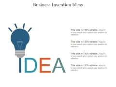 Business Invention Ideas Ppt PowerPoint Presentation Layouts