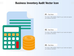 Business Inventory Audit Vector Icon Ppt PowerPoint Presentation Layouts Visual Aids PDF