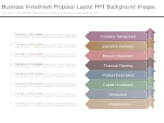 Business Investment Proposal Layout Ppt Background Images