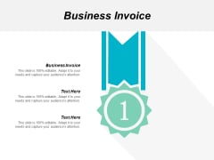 Business Invoice Ppt Powerpoint Presentation Slides Backgrounds Cpb