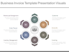 Business Invoice Template Presentation Visuals