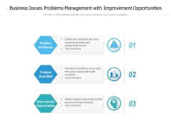 Business Issues Problems Management With Improvement Opportunities Ppt PowerPoint Presentation Slides Samples