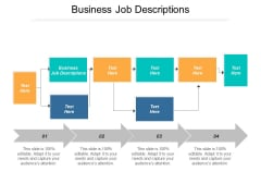 Business Job Descriptions Ppt PowerPoint Presentation Icon Professional