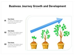 Business Journey Growth And Development Ppt PowerPoint Presentation Gallery Information PDF