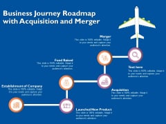 Business Journey Roadmap With Acquisition And Merger Ppt PowerPoint Presentation Pictures Infographics PDF