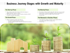 Business Journey Stages With Growth And Maturity Ppt PowerPoint Presentation Gallery Aids PDF