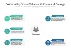 Business Key Scrum Values With Focus And Courage Ppt PowerPoint Presentation Summary Slide Download PDF
