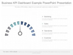 Business Kpi Dashboard Example Powerpoint Presentation