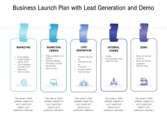 Business Launch Plan With Lead Generation And Demo Ppt PowerPoint Presentation Model Information PDF