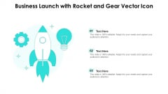 Business Launch With Rocket And Gear Vector Icon Ppt PowerPoint Presentation Gallery Gridlines PDF
