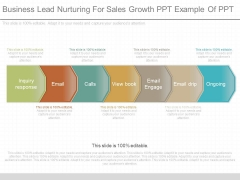 Business Lead Nurturing For Sales Growth Ppt Example Of Ppt