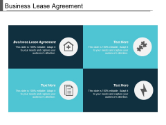 Business Lease Agreement Ppt PowerPoint Presentation Model File Formats Cpb